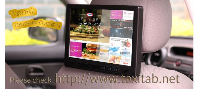 Cab Taxi Advertising Screen With Content Management System