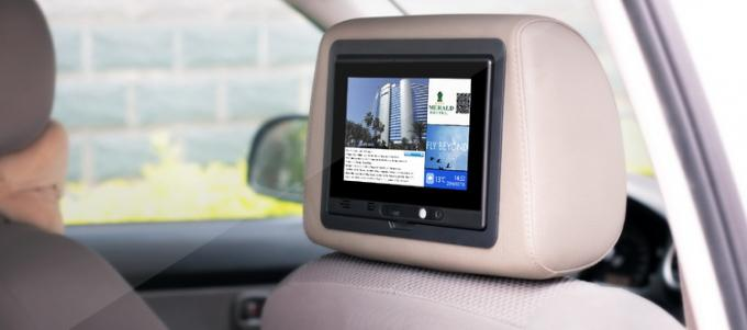 7 Inch Backseat Digital Taxi Advertising Screen