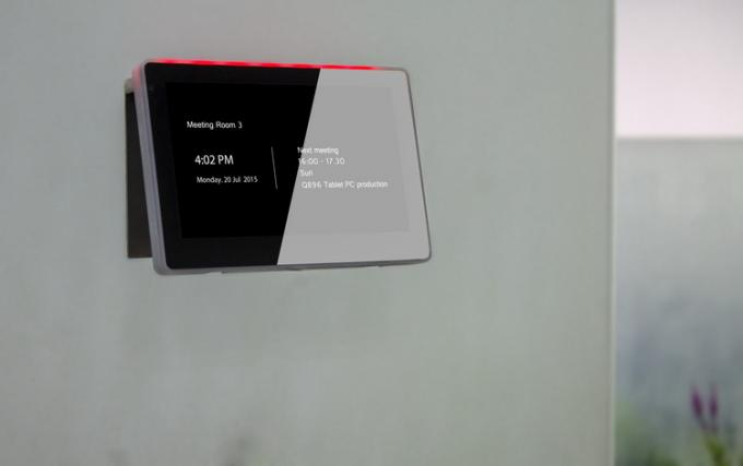 Glass Wall Mounting Android OS Tablet RJ45 with PoE