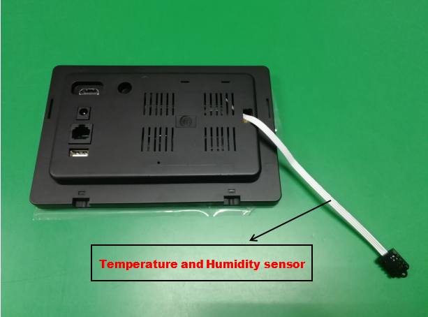 Wall mountable Touch Monitors Panel with POE and Temperature & Humidity sensor