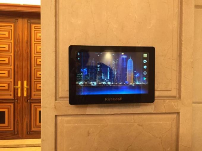 7'' wall mountable android tablet with ethernet, power adaptor and nfc reader for facility management