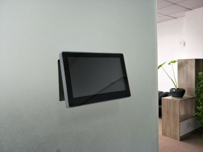 Black/White Color Android POE Tablet With GPIO Inwall Mount Bracket For Meeting Room