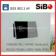 China Meeting Room Booking 7 Inch Android POE Touch Panel With RGB LED Light supplier