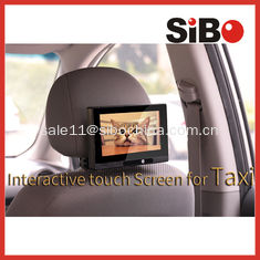 China Taxi Headrest Touch Advertising Screen with Content Management System supplier