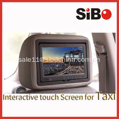 China 9 inch Android taxi advertising display with headrest and advertising software supplier