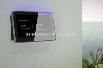 China Glass Wall Mounting LED Touch Screen Tablet with POE NFC RFID for Meeting room Appointment supplier