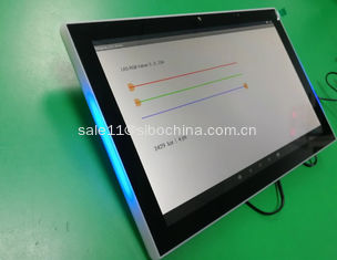 China 10.1 Inch Android 6.0 POE Wall/Glass Wall Mounted Tablet With NFC Reader LED Light Bar For Meeting Room supplier