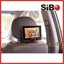 China Taxi Headrest Touch Advertising Screen with Content Management System factory