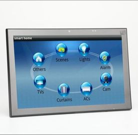 "China 10"" Meeting Room Tablet With POE, LED Light Bar On Both Sides, POE, Glass Wall Mount factory"