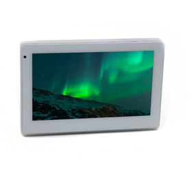 White Android Touch Panel With In Wall Flush Mounting For Smart House