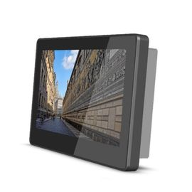 Android Flushed Inwall Mounted Touch POE Tablet With RS232 RS485 GPIO For Security Control